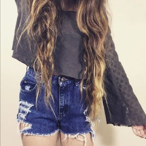 Vintage Lee High Rise Distressed Shorts